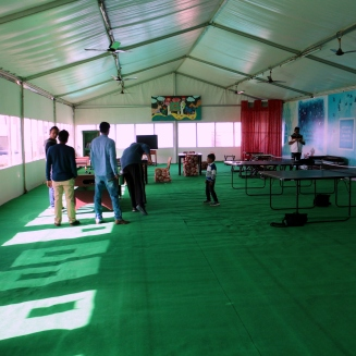Activity center in Tent City