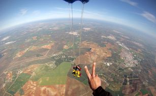 The parachute opens