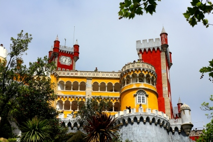 The colorful Pena Palace